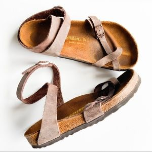 Birkenstock Yara Oiled Leather Brown Sandals Ankle